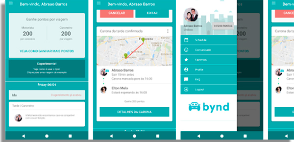 bynd app screens