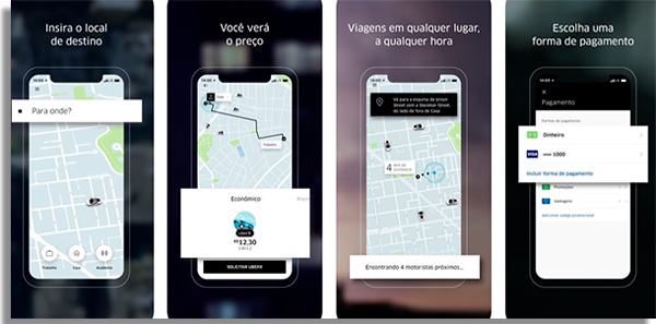 hitchhiking uber apps