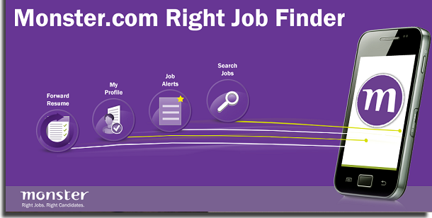 applications for job search monster