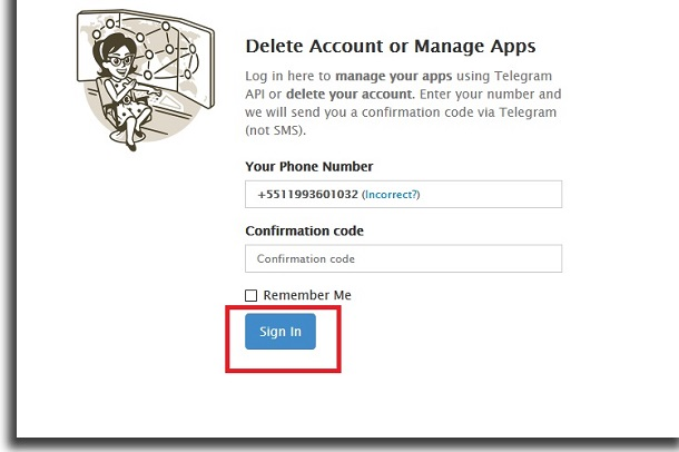disable telegram code