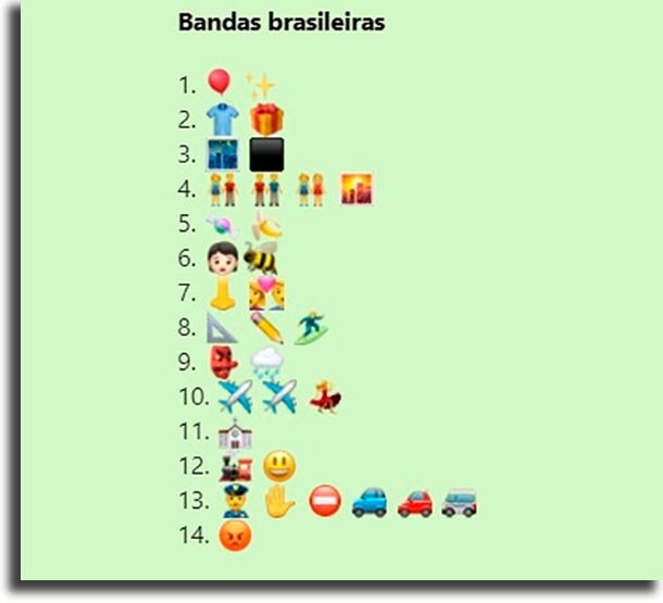 Challenge of the Brazilian bands best games of challenges for WhatsApp