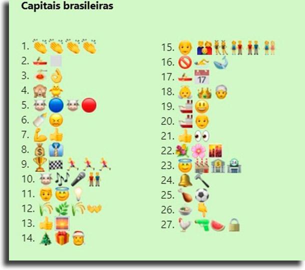 Challenge of Brazilian capitals best challenge games for WhatsApp