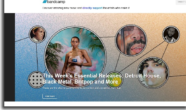 download music on bandcamp