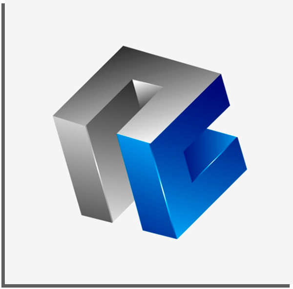 3d geometric logo