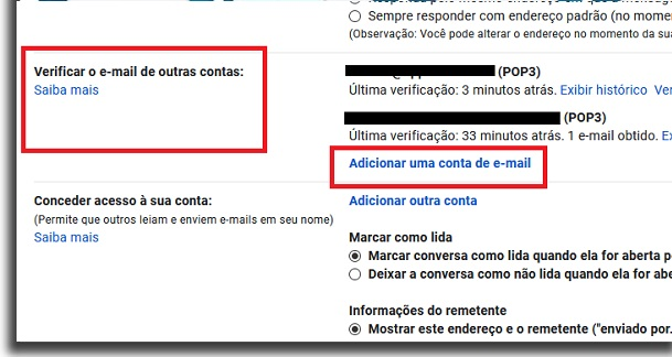 receive email from other accounts