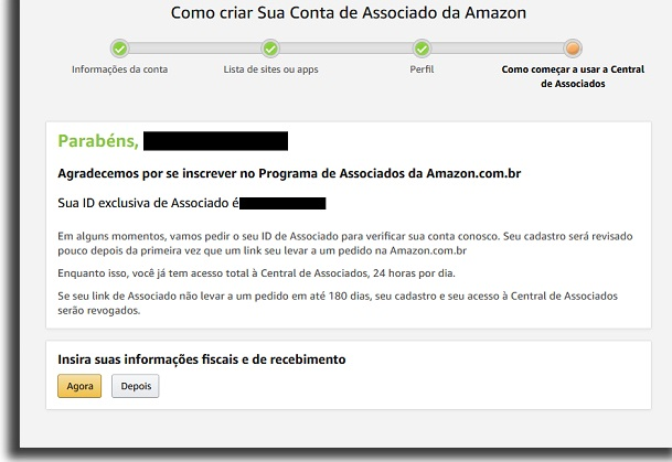 accepted on Amazon affiliates