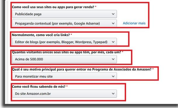 amazon affiliate registration steps