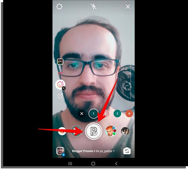 start recording your instagram reels