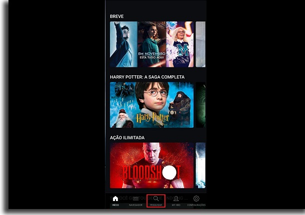 search HBO Go