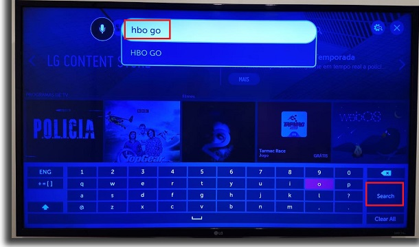 search on smart tv