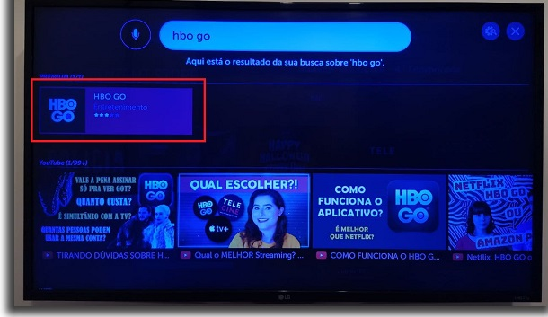 hbo go on tv search