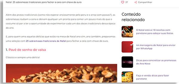 screenshot of ana maria braga's website