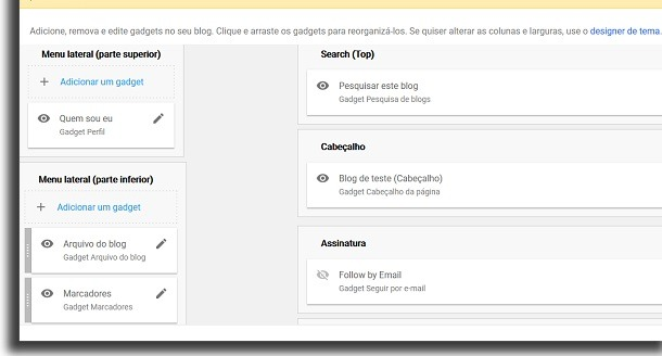 blogger layout screen