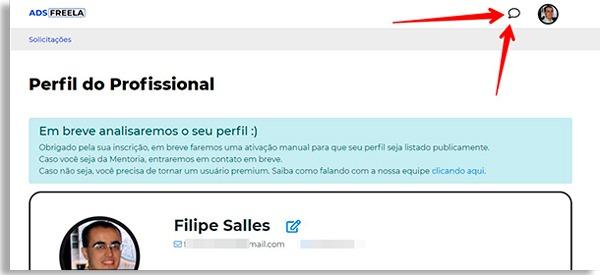 adsfreela profile screen