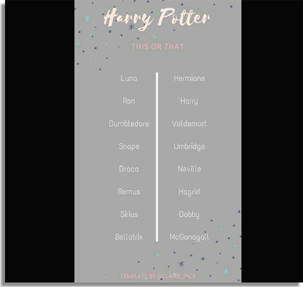 poll about harry potter