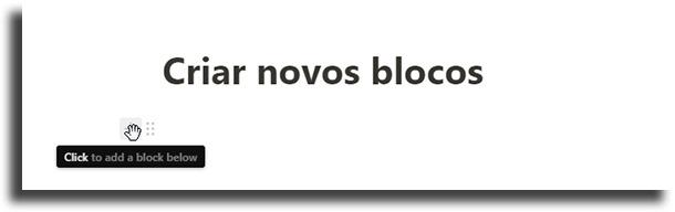 Create new blocks