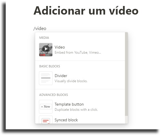 Putting videos on Notion's tips and tricks pages