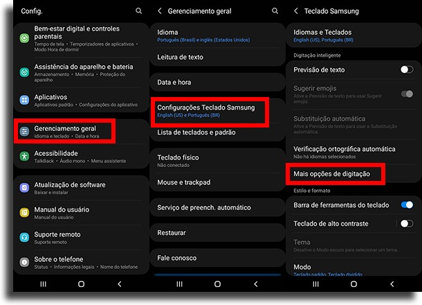 going to more typing options create text shortcuts on Android